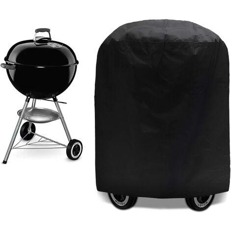 Housse de Barbecue 71 x 73cm Bache Barbecue Housse Bâche de Protection BBQ Couverture de Gril Anti UV/Anti l'eau/Anti l'Humidité, Sangle Ajustable, Convient la Plupart des Grill