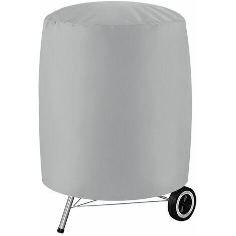 """Housse de barbecue pour barbecue Couvre-fumeurs ronds imperméables pour patio extérieur (gris, XXL (30 """"x 36""""))"""