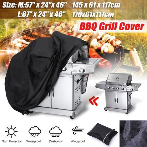 Housse de barbecue robuste étanche pluie barbecue grill protecteur de jardin XL grande taille (170x61x117cm) XL (170x61x117cm)