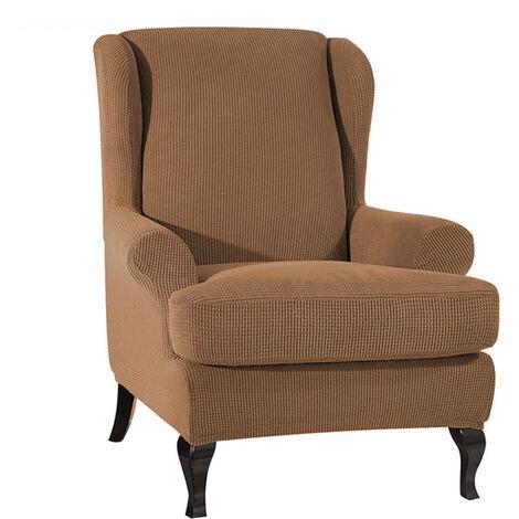 Housse de canap¨¦ Fauteuil ¨¤ oreilles en tissu extensible Housse de canap¨¦ en polyester Spandex Housse de protection pour meubles