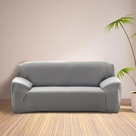 """main image of """"Housse de Canapé 3 Places avec Accoudoir Extensible - Revêtement de Canapé Pour salon chambre - GRIS - MONDEER"""""""