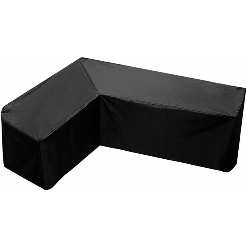 Housse de canapé en forme de L - Tissu Oxford 210D - Imperméable - Pour l'extérieur - Avec sac de rangement pour déplacer (215 x 215 x 87 cm)