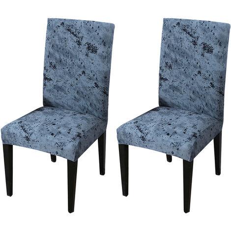"""main image of """"Housse de chaise ¨¤ dossier haut Table ¨¤ manger ¨¦lastique et housse de chaise Restaurant ¨¦tanche Version ¨¦paissie Splash Ink"""""""