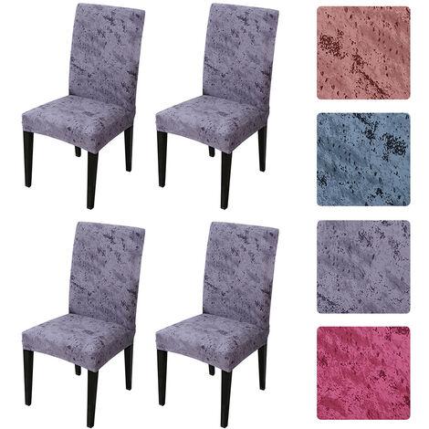 """main image of """"Housse de chaise a dossier haut Table a manger elastique et housse de chaise Restaurant etanche Version epaissie Splash Ink, Snow Green 4pcs"""""""