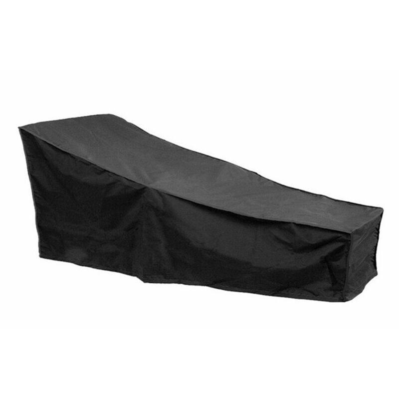 Asupermall - Housse De Chaise Longue De Patio Impermeable Avec Revetement Impermeable Protecteur De Chaise Longue D'Exterieur Resistante, Noir