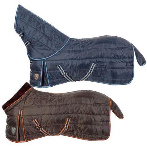 Housse de cheval en tissu polyester 420 deniers avec rembourrage polyfill 330g et collier en agneau synthétique Tattini