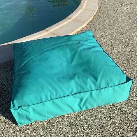 Housse de coussin de sol outdoor Turquoise 71x71x15 - Turquoise