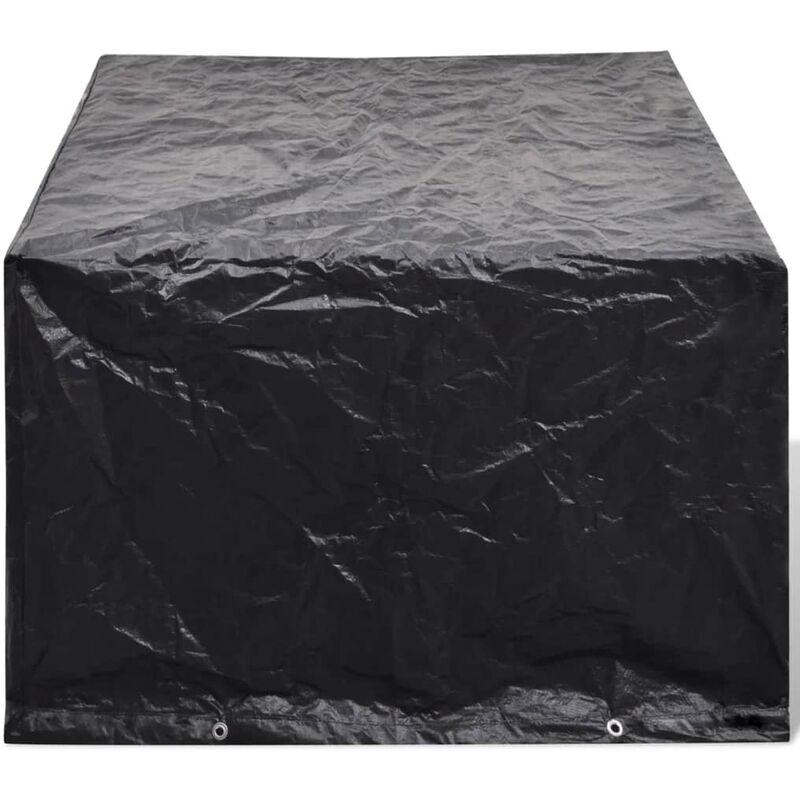 Housse de mobilier de jardin Résine tressée 8 œillets 180x140cm - 41640