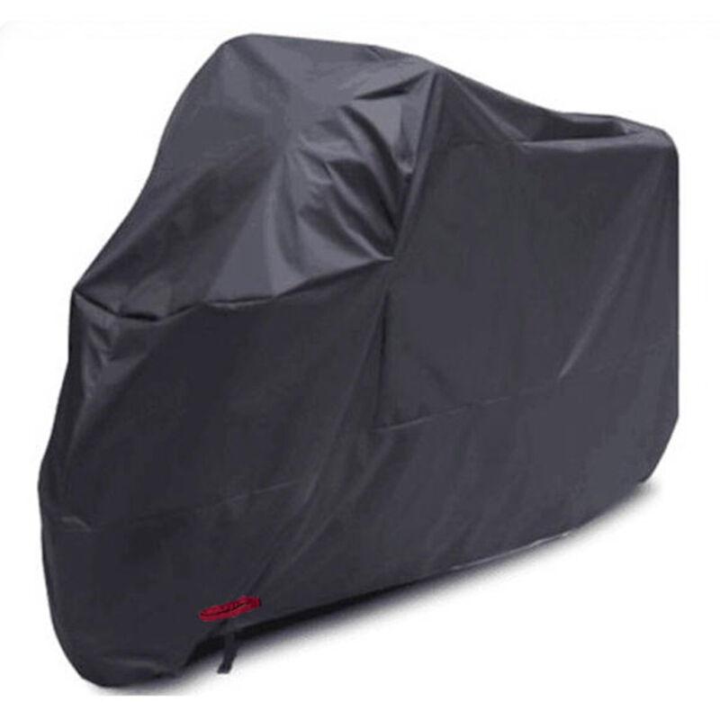Housse de moto 210D en tissu Oxford, noir 265 * 105 * 125CM