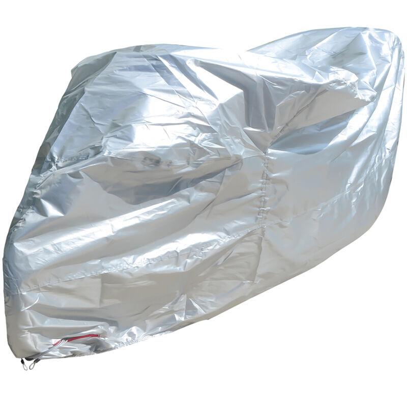 Housse de moto 210D en tissu Oxford, argent 245 * 105 * 125CM