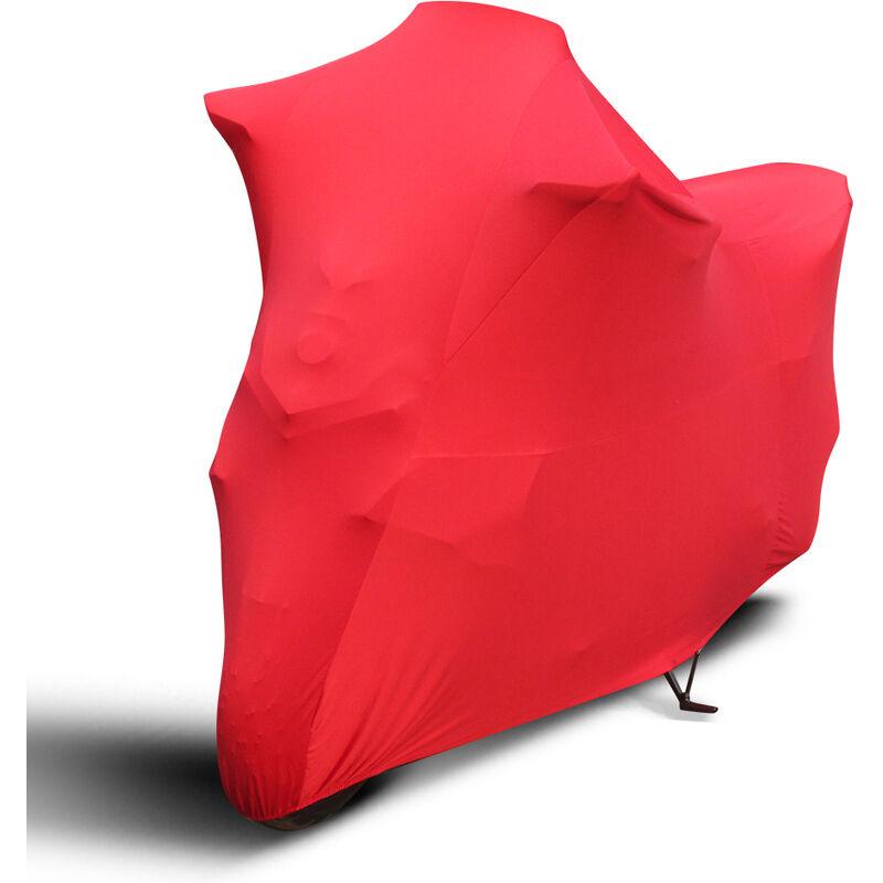 Asupermall - Housse De Moto Generale, Housse De Moto Anti-Poussiere, Anti-Soleil Et Anti-Pluie, Rouge
