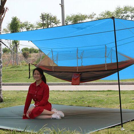 Housse de pluie, bâche de camping, tente imperméable, tente imperméable, toile, pliable léger, abri de randonnée, imperméable, camping, imperméable, protection solaire, randonnée et pique-nique