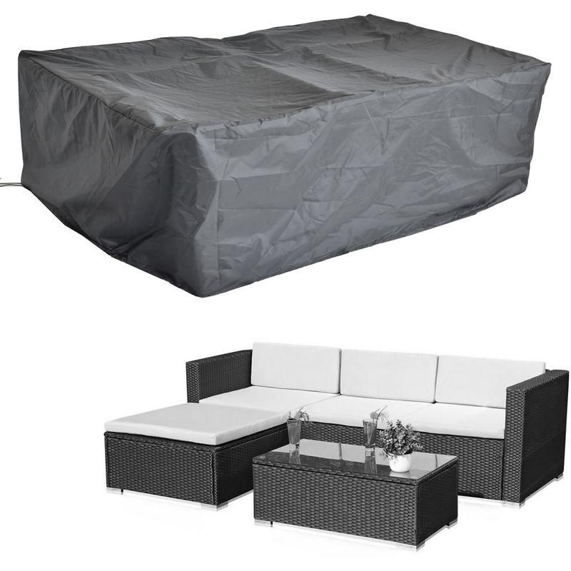 227x152 CM Housse de protection Bâche pour meubles de jardin Bâche en tissu Bâche de protection