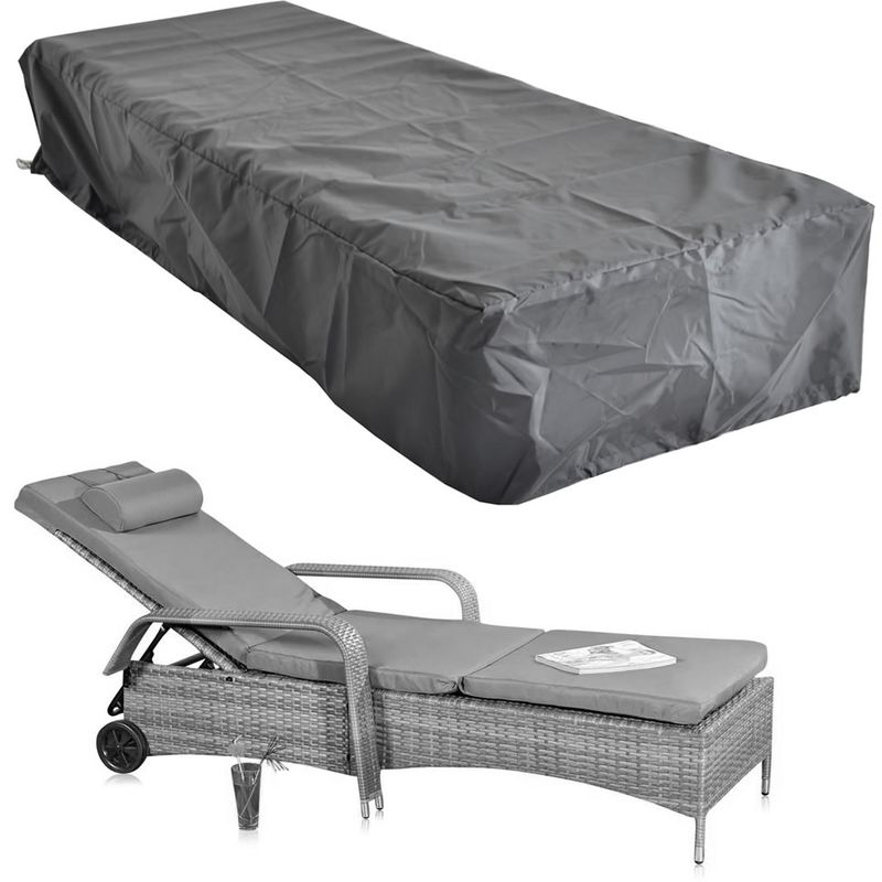 220x78x60 CM Housse de protection Bâche de protection pour meubles de jardin Bâche en tissu
