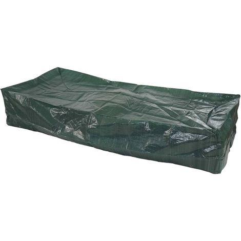Housse de protection bâche pour transat de jardin 200x85x40 cm