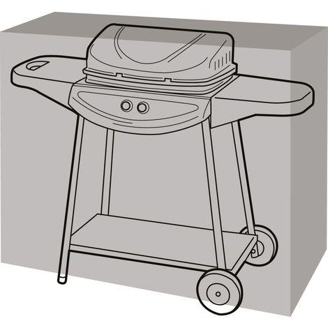 Housse de protection barbecue rectangulaire 124 cm de long - Noir