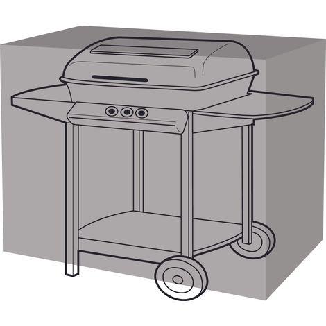 Housse de protection barbecue rectangulaire 155 cm de long - Noir
