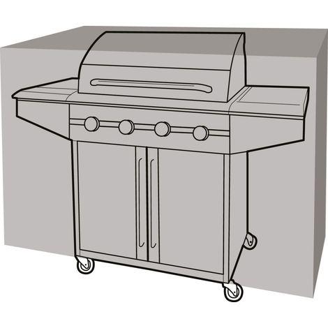 Housse de protection barbecue rectangulaire 165 cm de long - Noir