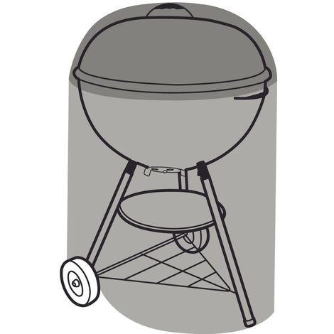 Housse de protection barbecue rond 71 cm - Noir