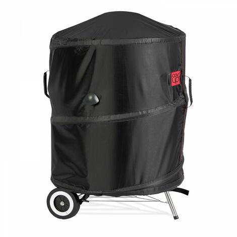 Housse de protection brevetée pour barbecue rond Ø67 x 80 cm Housse Pop'Up - Noir