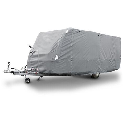 Housse de protection caravane L 580 x 225 x 220 cm bâche respirant imperméable