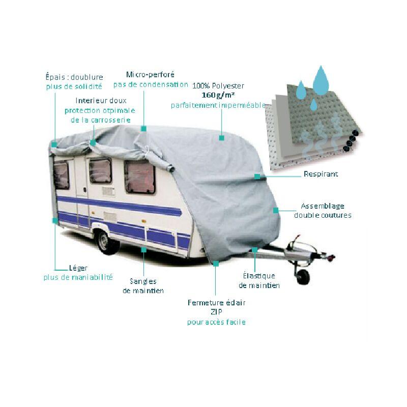Housse de protection Caravane PVC 525x225x220cm
