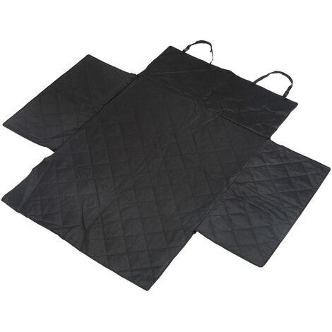 Housse de protection coffre de voiture couverture tapis de protection imperméable chien chat 185L x 175l cm tissu oxford haute densité noir