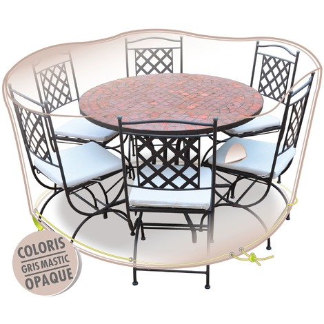 Housse de protection de mobilier de jardin Morel - Table ronde + ...