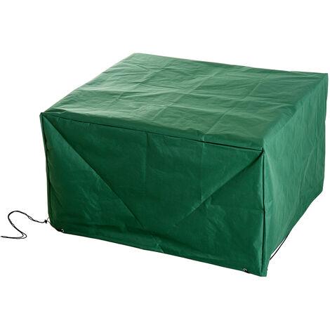 Housse de protection etanche pour meuble salon de jardin rectangulaire 135L x 135l x 75H cm vert