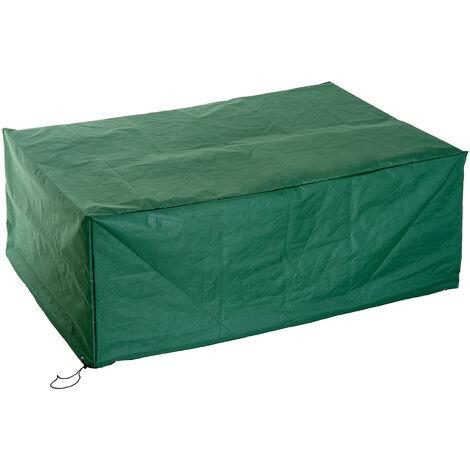 Housse de protection etanche pour meuble salon de jardin rectangulaire 210L x 140l x 80H cm vert - Vert