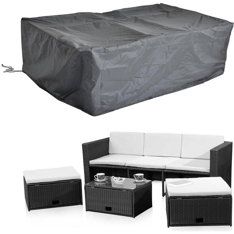 247x130x108 CM Housse de protection pour meubles de jardin pour bâches en tissu