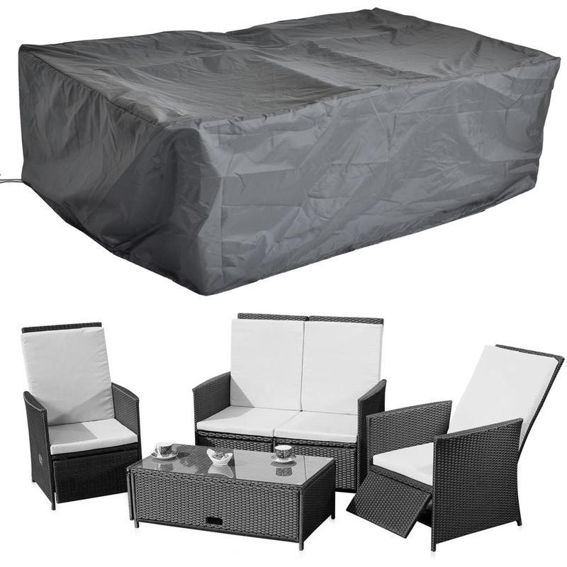 192x82CM Housse de protection Groupe de sièges de jardin en rotin Protection contre les intempéries