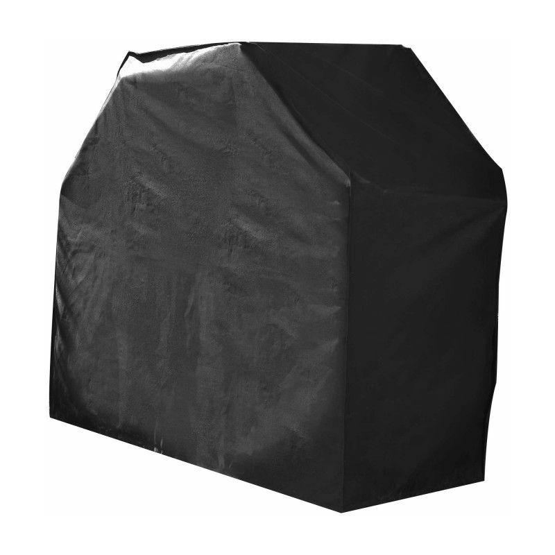 Housse De Protection imperméable BARBECUE Haute Qualité polyester doublée PVC L 125 x l 60 x h 90 cm Couleur Anthracite - Anthracite