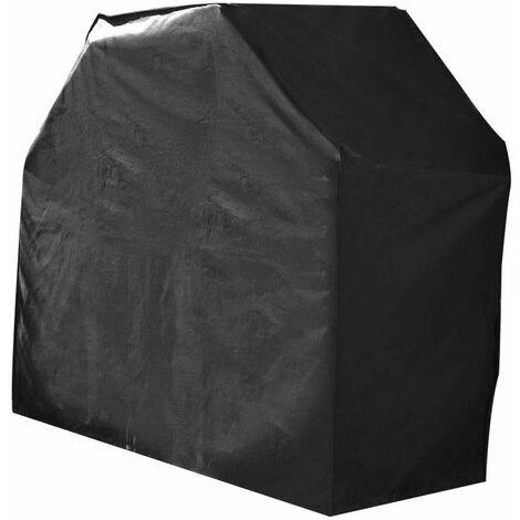 Housse De Protection imperméable BARBECUE Haute Qualité polyester doublée PVC L 125 x l 60 x h 90 cm Couleur Anthracite