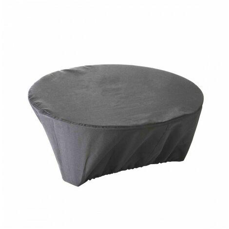 """main image of """"Housse de protection imperméable pour brasero Haute Qualité polyester D 80 x h 30 cm couleur Anthracite - Anthracite"""""""
