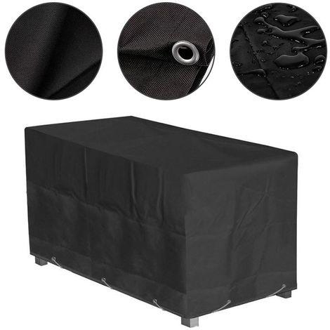 Housse de protection indéchirable pour barbecue 160*100*65cm pour les meubles de jardin - noir