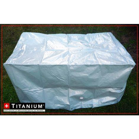 housse de protection ind chirable pour barbecue titanium. Black Bedroom Furniture Sets. Home Design Ideas
