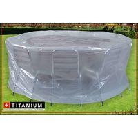 Housse de protection indéchirable pour table ronde TITANIUM® - 215 x 90 cm