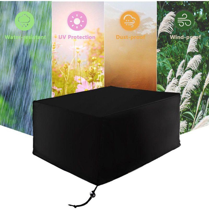Oobest - Housse de protection large pour table de jardin 213*132*74cm Noir