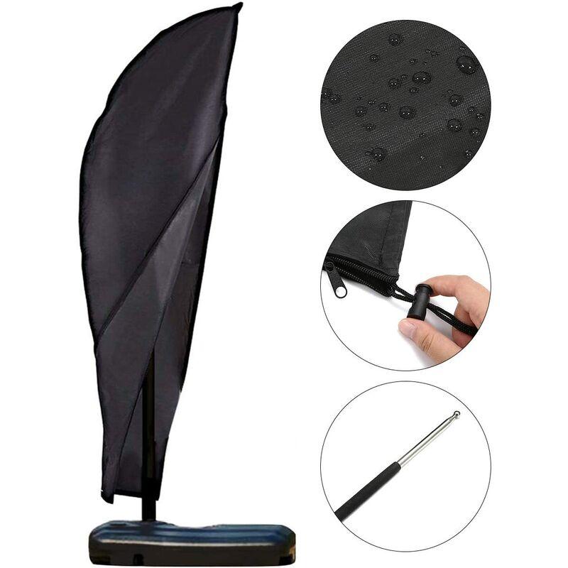 Housse de Protection parasols en 420D Oxford Imperméable Résistant à UV Intempéries avec Sac de Rangement 3M, Housse de Protection pour Parasol 280 x
