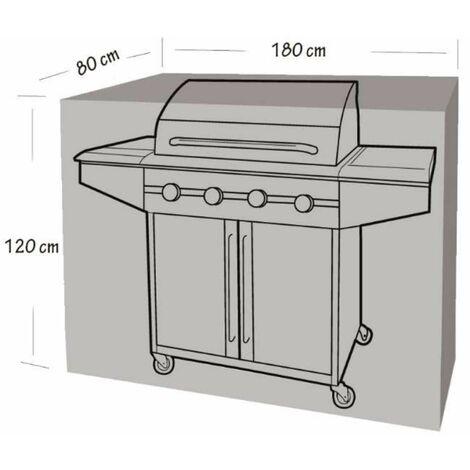 Housse de protection pour barbecue et plancha 180x80x120cm Werkapro