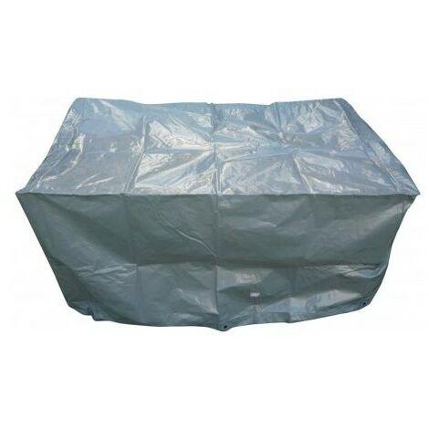 Housse de protection pour barbecue rectangulaire - Argent - 125x70x70 cm
