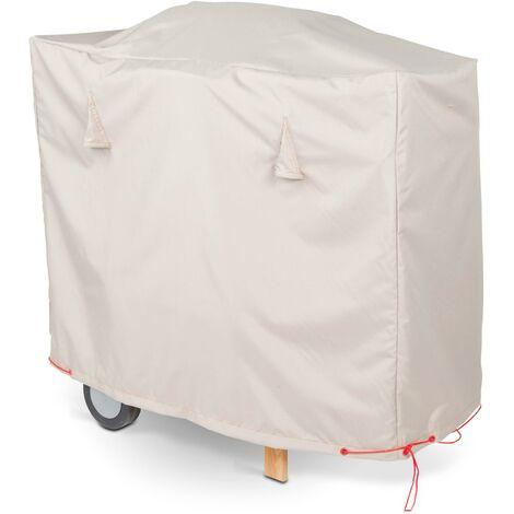 Housse de protection pour barbecue XXL 150 x 60 cm Standard - Taupe