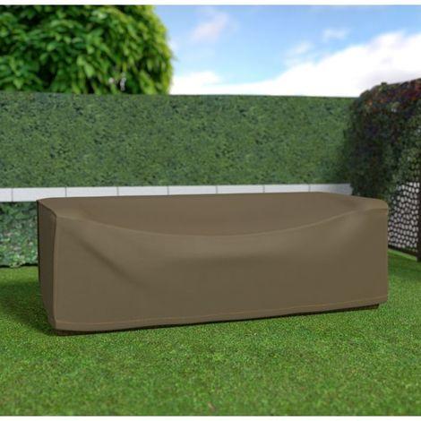 Housse de protection pour canapé 3 places par Nortene - Taupe - Extérieur - Ajustable - Taupe
