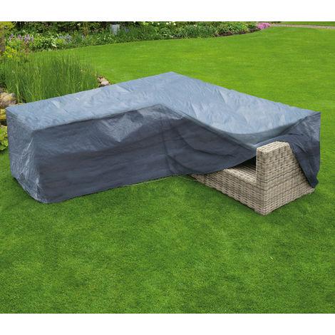Housse de protection pour canapé d'angle de jardin H90 x L250 x L250 x l90 cm