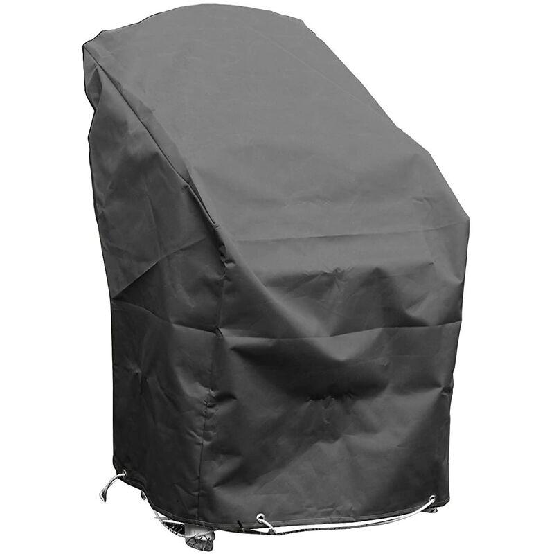 Housse de protection pour chaises de jardin empilables Haute qualité polyester L 70 x l 65 x h 70 Couleur Anthracite - Anthracite