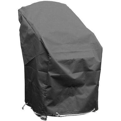 Housse de protection pour chaises de jardin empilables Haute qualité polyester L 70 x l 65 x h 70 Couleur Anthracite