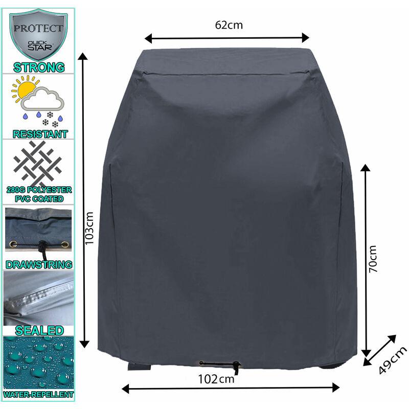 Housse de protection pour couvercle de gril 102x49x103cm Tepro Toronto Grill BBQ