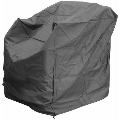 Housse de protection pour fauteil détente - 90 x 80 x 90 cm - Gris