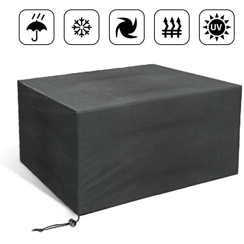 Housse de protection pour meubles de jardin 110*110*65cm Noir - NoIR